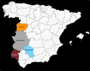 zone di produzione Pata Negra