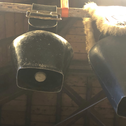 le campane all'interno della loro casa