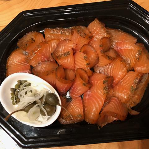 un piatto di salmone Waserlachs